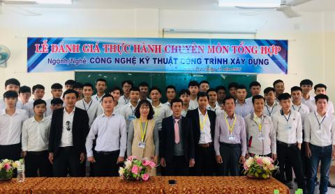 Lễ Đánh giá thực hành chuyên môn tổng hợp nghề Công nghệ kỹ thuật công trình xây dựng năm 2020