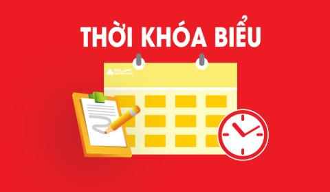 Thời khoá biểu Khoá 2019 và Khoá 2020 tuần 37 (Thực hiện từ ngày 12/4/2021 đến ngày 17/4/2021)
