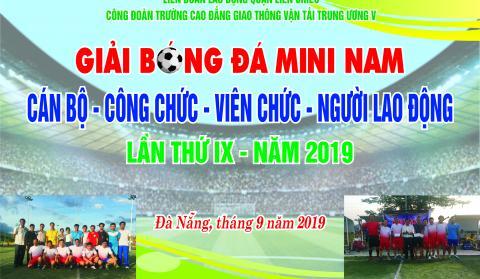 Thông báo về Giải bóng đá mini nam CB-CC-VC-NLĐ năm 2019