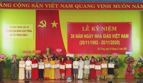 Trường Cao đẳng Giao thông vận tải Trung ương V kỷ niệm 38 năm ngày nhà giáo Việt Nam 20/11/2020.